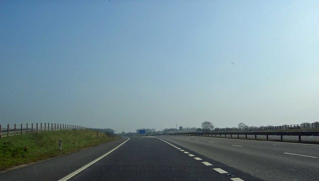 The new slip road from the A1 at Blyth