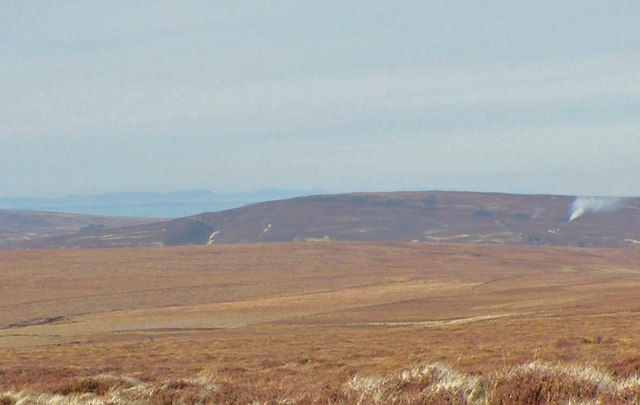 Looking across Creag a' Bhothain moorland to Cairn Sgùmain