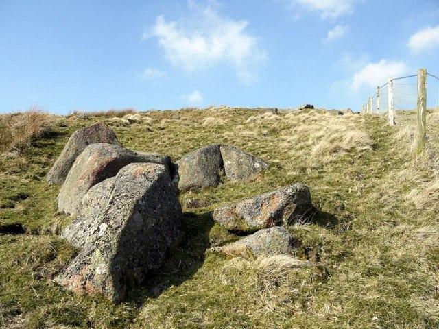 Rocks at Flint Crag below St David's Cairn