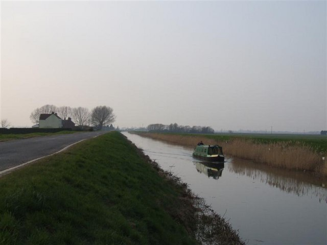 Heading Home Along Whittlesey Dike.