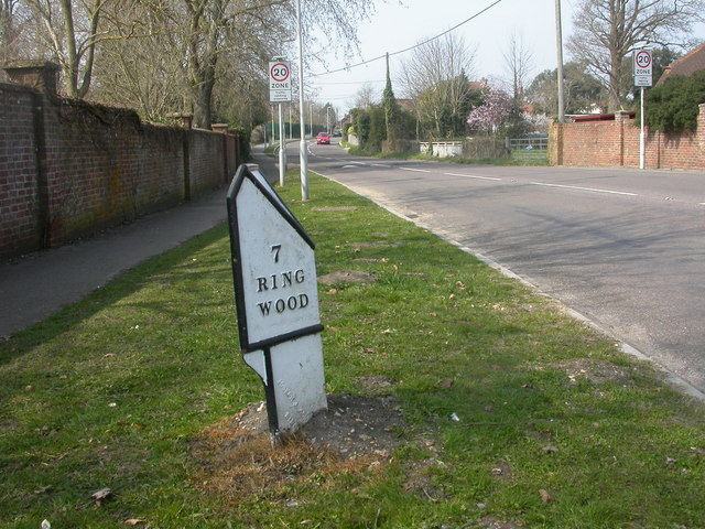 Burton, milepost