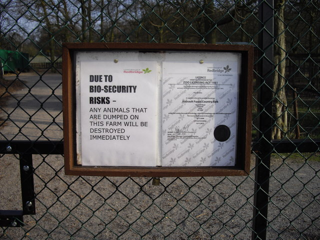 Bio-Security Warning Sign