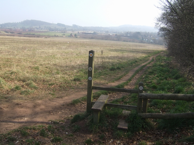 Stile on the Monarch's and North Worcestershire Ways