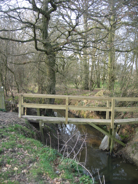 Newish footbridge