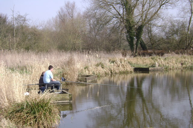 Novice angler, Kingfisher Pool, Myton Fields, Warwick