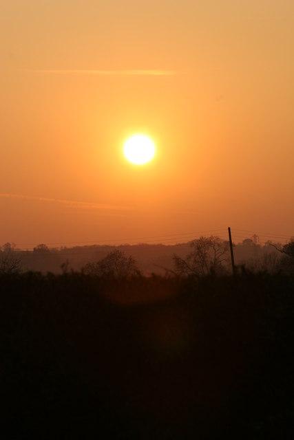 Sunset over Bugbrooke