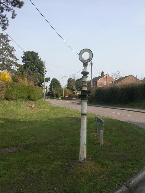 Burton, fingerpost