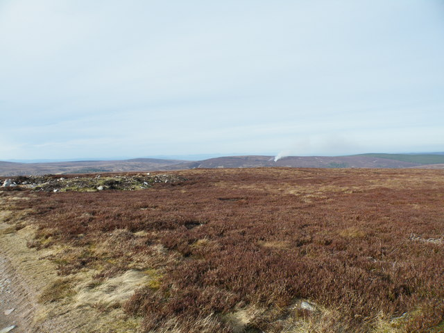 Carn na Sguabaich Moorland looking North