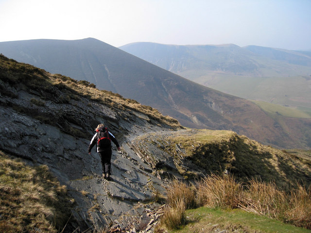 A rocky section on Glwndwr's Way