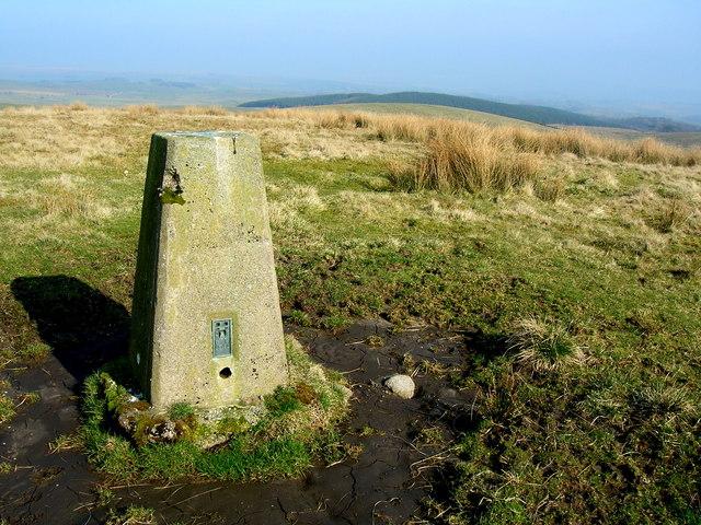 Newton Moor Top trig point, 291m