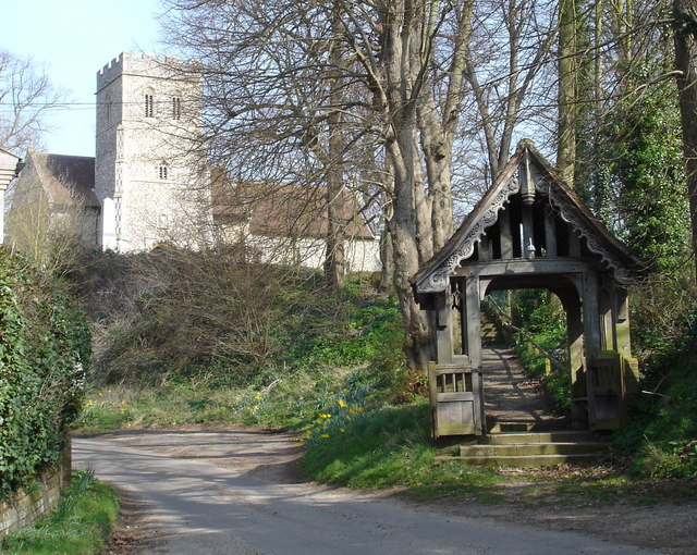 Playford church and lychgate