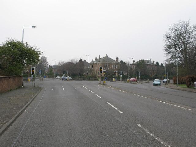 Road Junction on the B768 beside Pollok Park