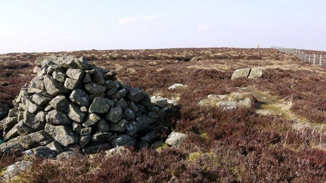 Cairn south of Wether Cairn trig point