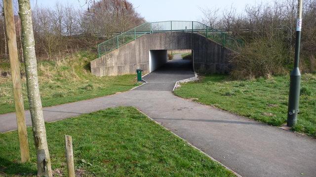 Pedestrian underpass at Brockhill.