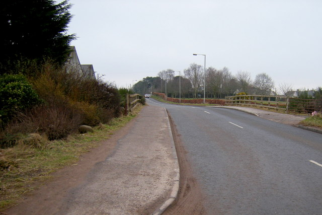 Lunanhead / Forfar Road at a part thereof where road traverses the Dismantled Railway