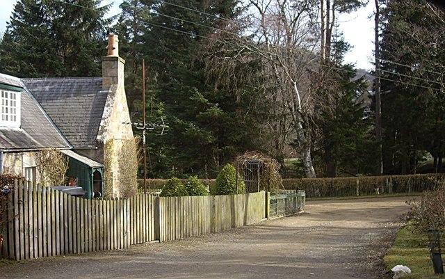 West entrance to Edinglassie Lodge