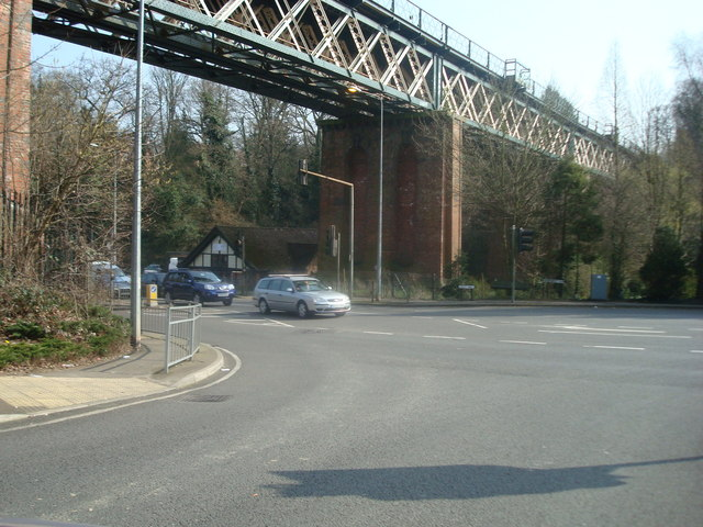 Railway Bridge over A25, Oxted, Surrey