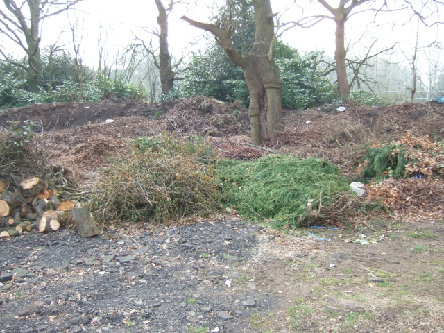 Garden waste and composting site