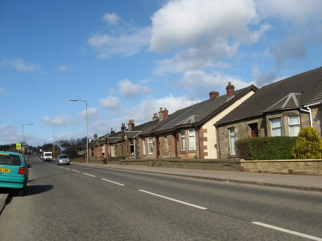 A row of cottages in Airdrie