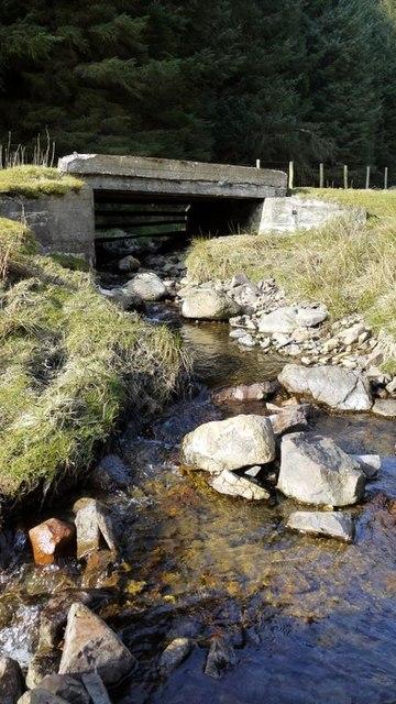 Concrete bridge over Allerhope Burn