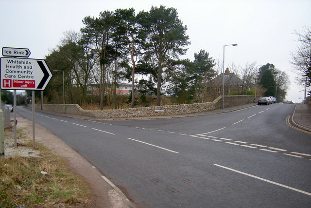 Old Brechin Road, Forfar at its junction with Station Road