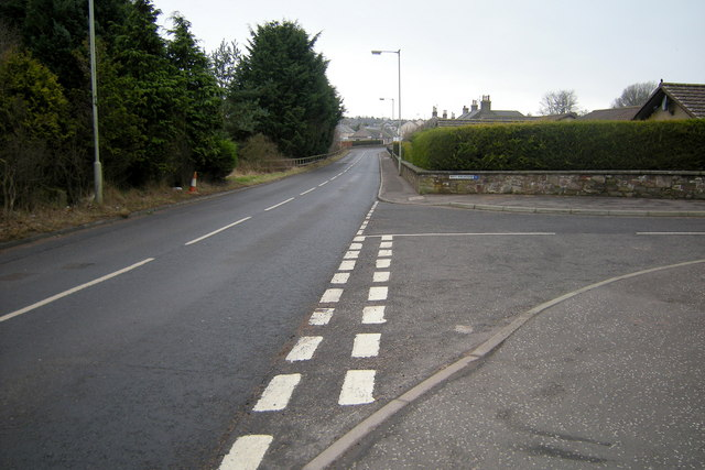 Old Brechin Road, Forfar at its junction with Beulah Howe