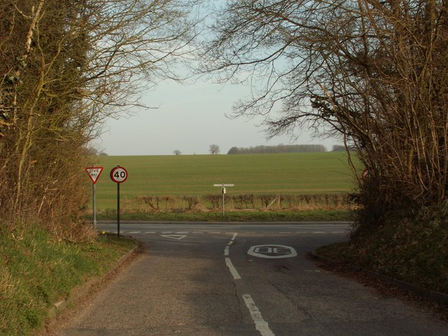 The approach to Ermine Street from Old Hall Green