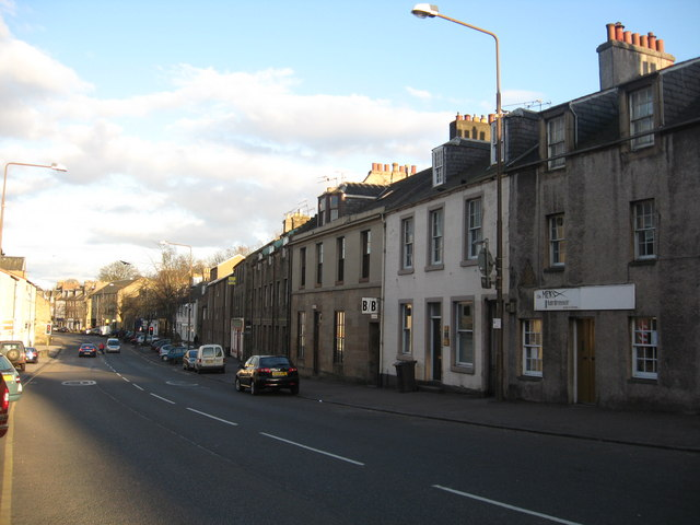 Terraced houses at Linlithgow, West Lothian