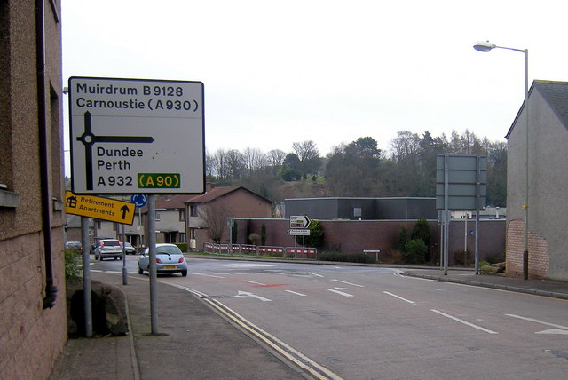 South Street, Forfar at its junction with Academy Street