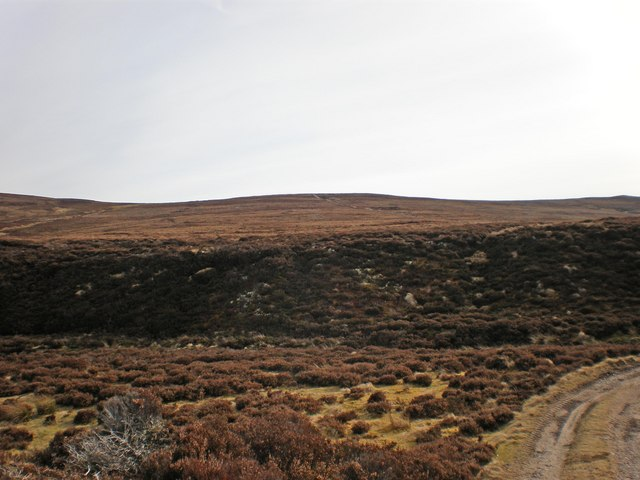 Looking up to Carn a' Gharbh-ghlaic from track near ford