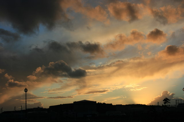 Sunset over Cattedown, Plymouth