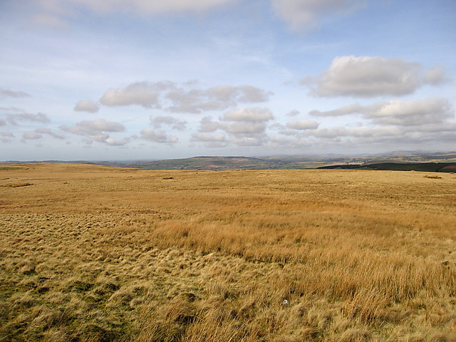 Looking north from the northern slopes of Garn Gron