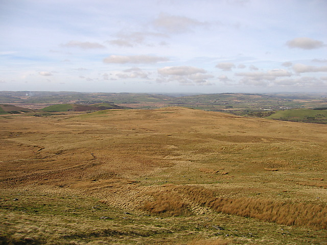 Moorland north of Garn Gron