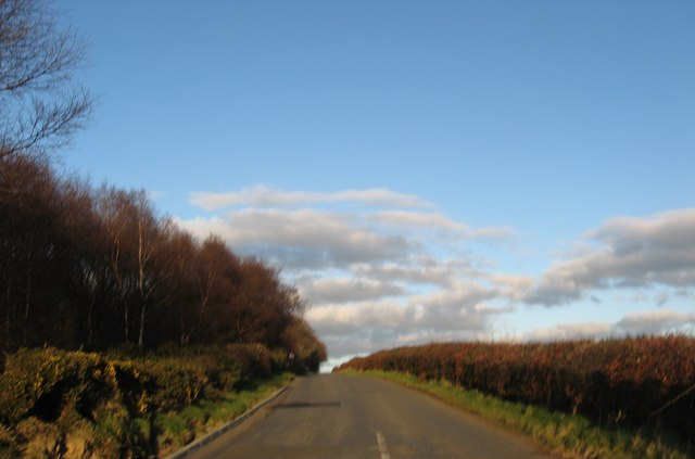 Road heading for Beecraigs Country Park