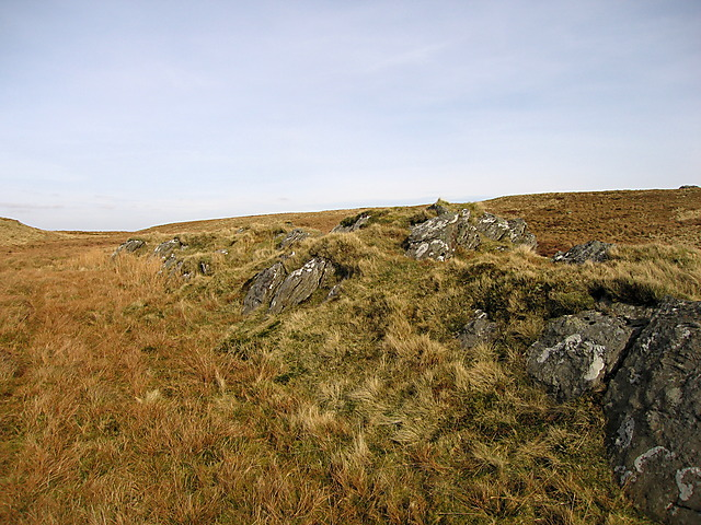 Rocky outcrop at the top of Garn Gron
