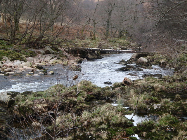 Foot bridge over Water of Dye