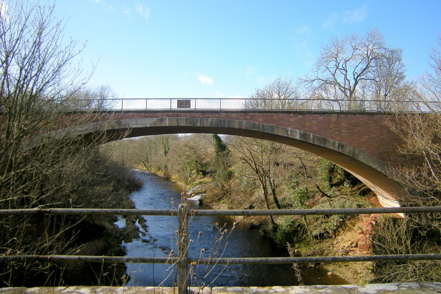 View of the  new Road Bridge at Shielhill