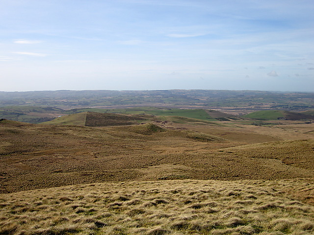Moorland northwest of Garn Gron