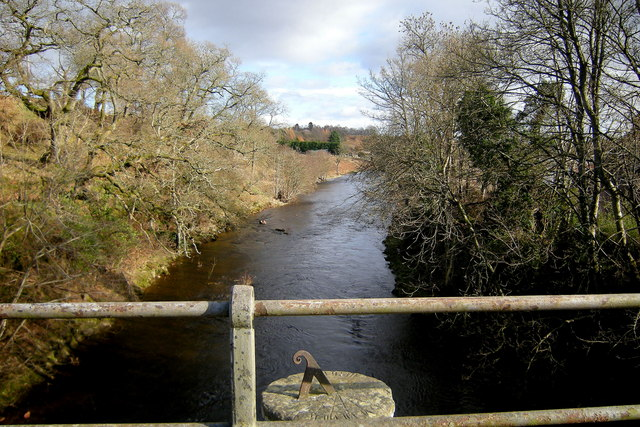 View of River South Esk from the old Shielhill Bridge