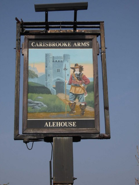 Pub sign of The Carisbrooke Arms