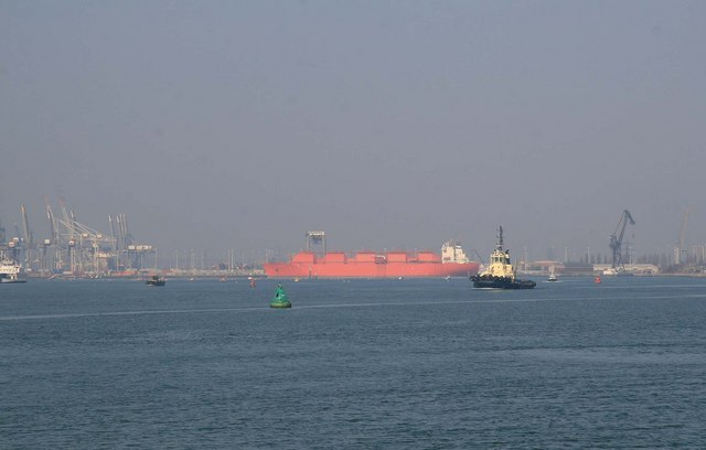 SS Margaret Hill and container port.