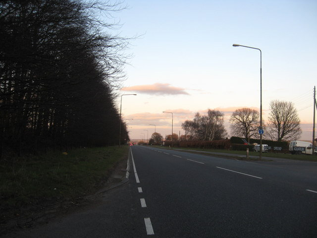 The A89 running through the heart of  West Lothian