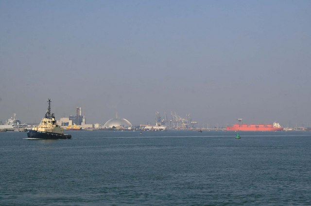 Marchwood, Southampton container port and SS Margaret Hill