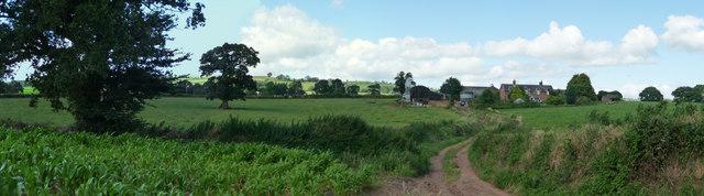 Mid Devon : Peadhill Lane & Farmhouse