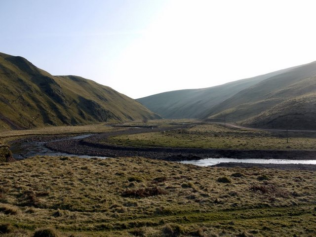 Valley of the River Alwin below Clennell Hill