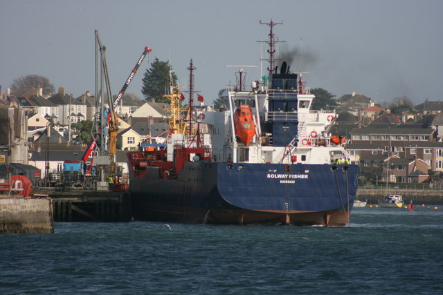The Solway Fisher leaving Cattedown Wharves