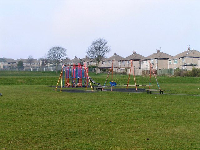 Play Area in Natty Lane Playing Fields, Illingworth, Halifax