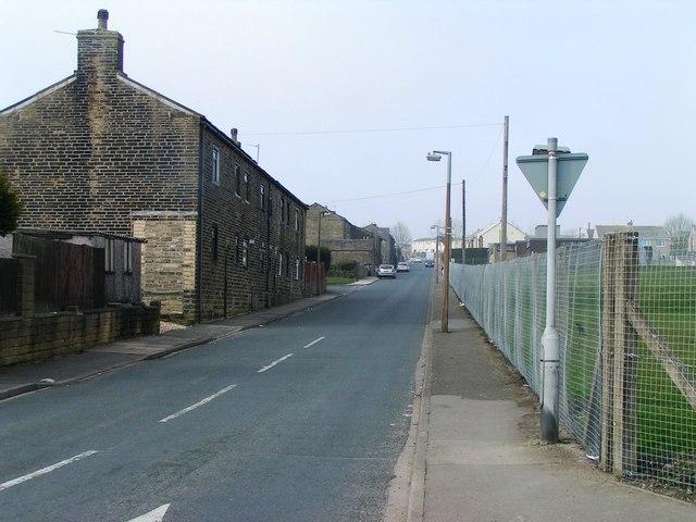 Natty Lane from Illingworth Road, Illingworth, Halifax