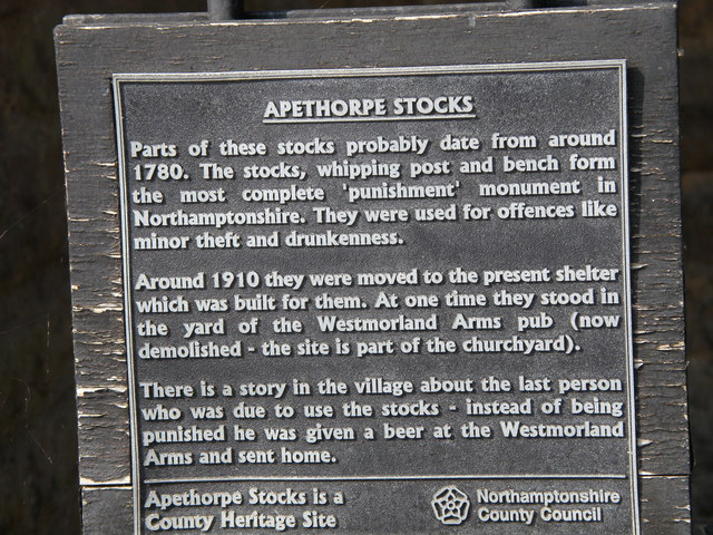 Apethorpe stocks history