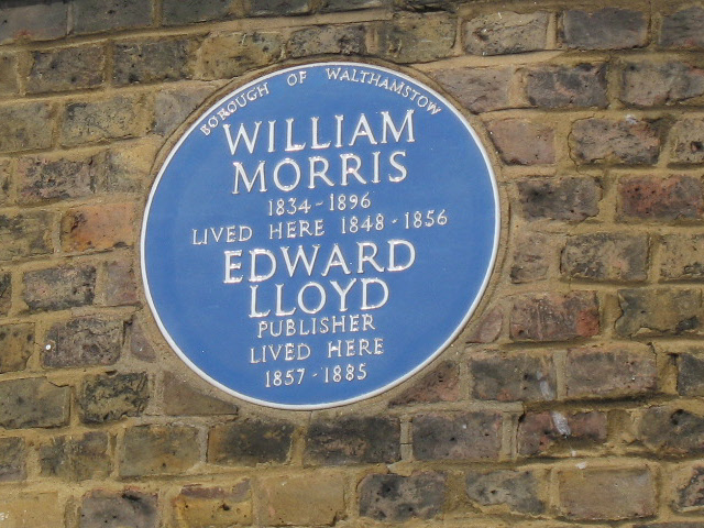 Plaque to William Morris and Edward Lloyd